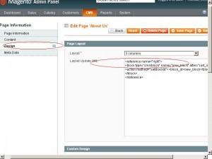 Вставляем статический блок в страницы используя xml