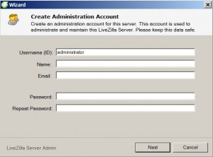 LiveZilla - Create Administrator Account