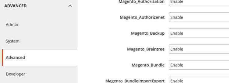 Magento – баг с отключением модулей