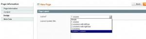 Новый тип страницы для Magento